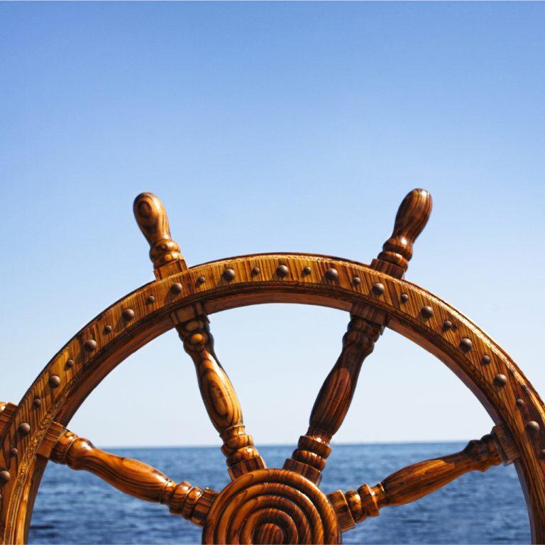 La barre d'un bateau