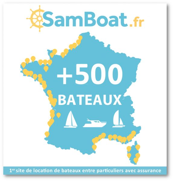Plus de 500 bateaux disponibles à la location sur Samboat.fr