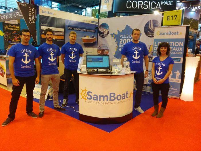 équipe Samboat au salon nautique de Paris