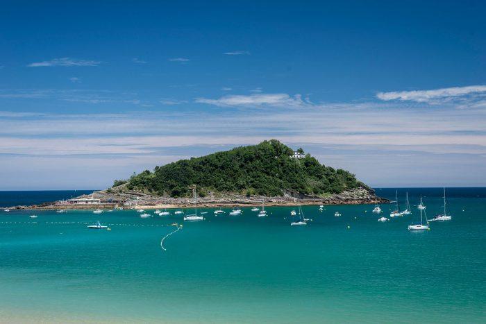 Ile de Santa Clara au Pays Basque espagnol