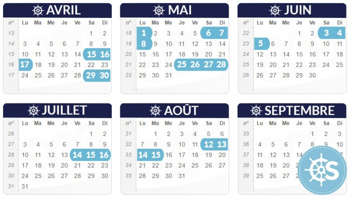 calendrier ponts 2017