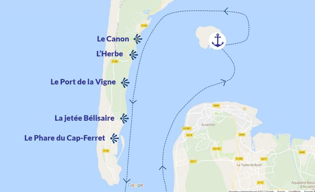 location bateau arcachon