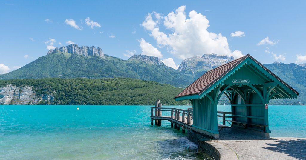 location bateau lac