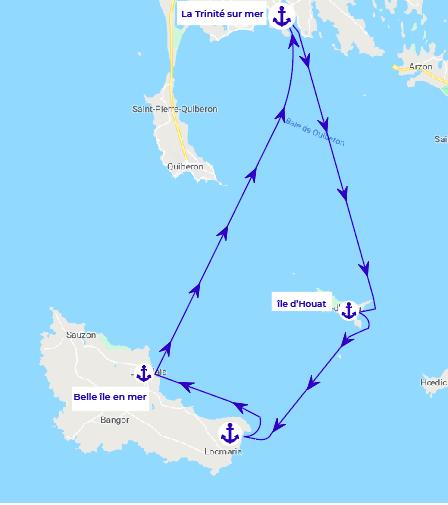 itinéraire une journée bretagne du sud samboat