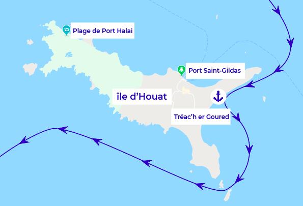 itinéraire bateaux île d'houat