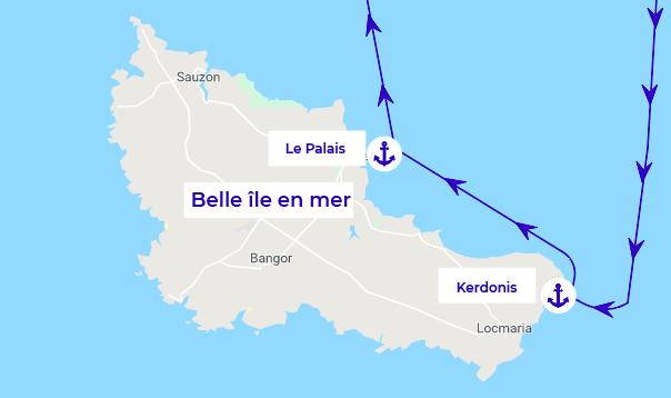 belle île en mer itinéraire Bretagne