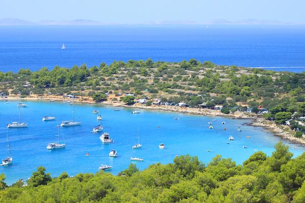 Photo de la baie de l'ile de Murter Kornati en croatie