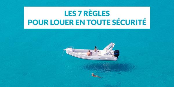 Les 7 règles pour louer un bateau en tout sécurité sur le site SamBoat