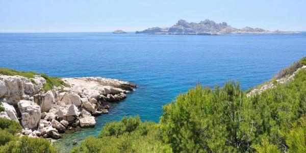 Une plage de l'archipel de Riou, pour la plongée en Méditerranée