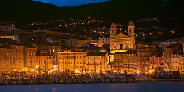 Le port de Bastia, le soir