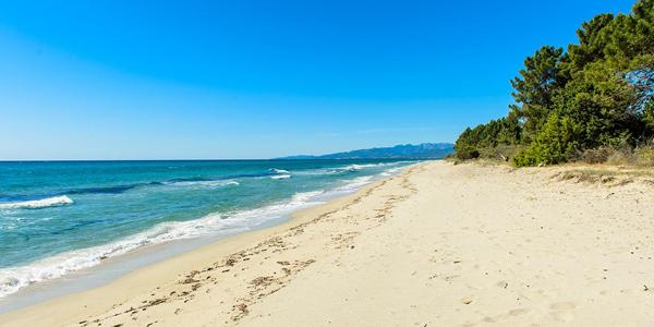 Une des plages de Ghisonaccia