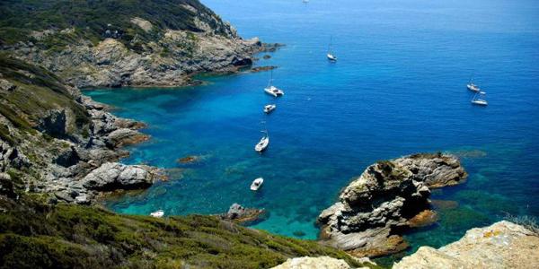 L'île de Porquerolles près de Hyères dans le sud de la France