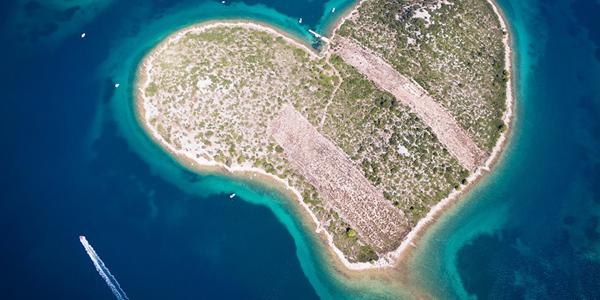 L'île de Galesnjak en Croatie