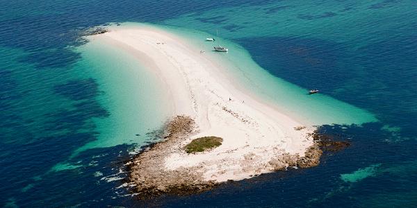 Une île parmi l'achipel des Glénan