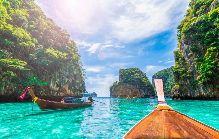 Koh Phi Phi Don et Koh Phi Phi Lei, les deux îles principales de Koh Phi Phi