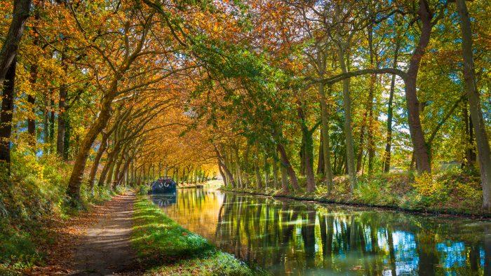 Friedliche Bootstour Canal du Midi