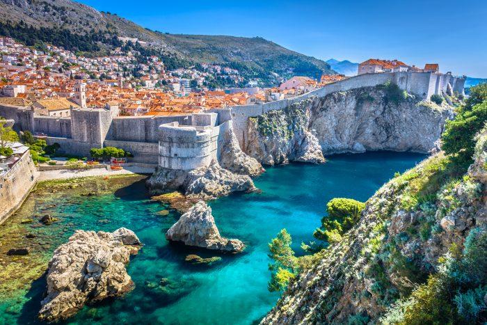 Vue aérienne de la vieille ville de Dubrovnik.