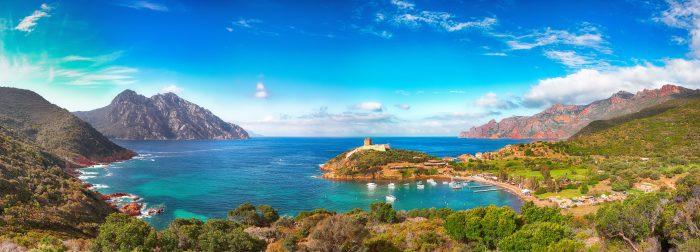 Baie de Girolata, itinéraire de navigation Corse vers le nord