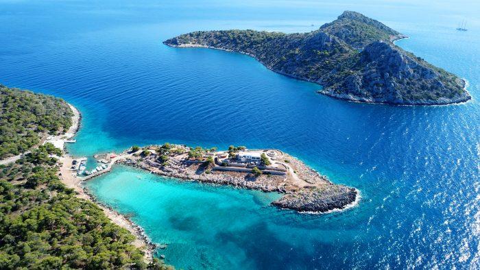 Île Agistri, Grèce