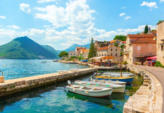 Ville de Perast, baie de Kotor, Monténégro