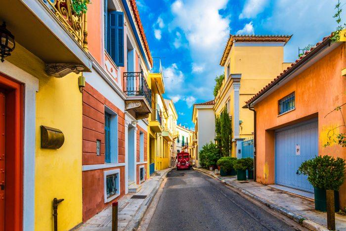 Rues colorées, Athènes, Grèce