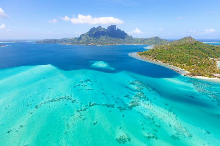 Vue sur l'île de Bora Bora