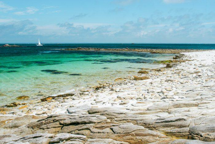 Les Glénans, première étape de cet itinéraire de navigation en Bretagne