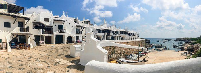 Village atypique de Binibeca Première escale de l'itinéraire de navigation de Minorque