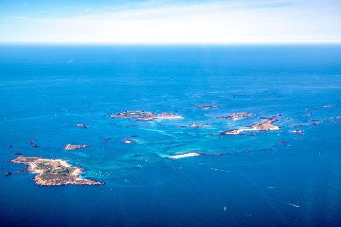 Plage de l'archipel des Glénan, une des plus belles plages de France