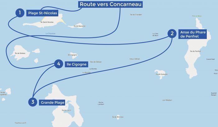 Itinéraire les Glénan