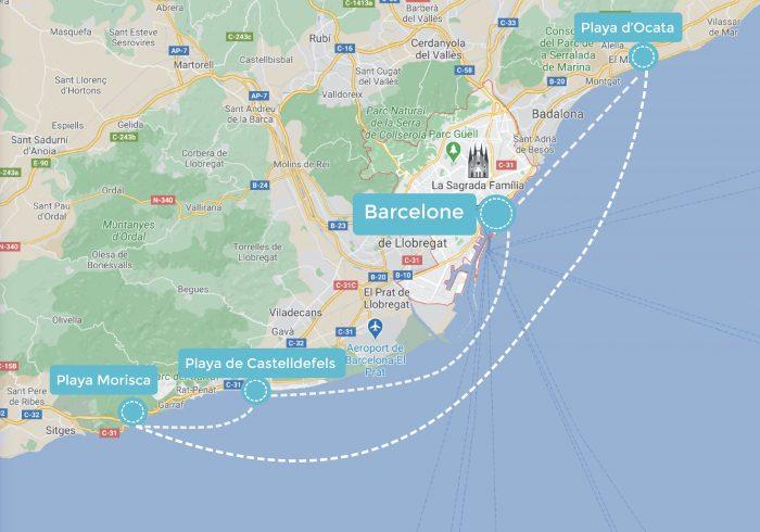 itinéraire de navigation barcelone